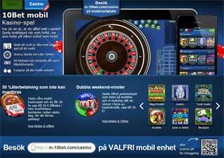 10Bet mobil casino