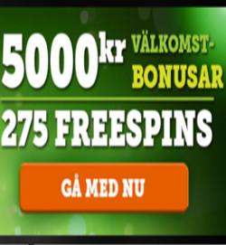 erbjudande hos CasinoLuck casino